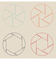 set of shutter icon vector image