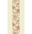 Vintage brown pink flowers vertical seamless vector image