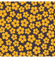 Seamless background with yellow flowers vector image vector image