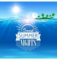 Tropical ocean island Sweet summer nights placard vector image vector image