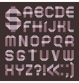 Font from lilac scotch tape - Roman alphabet vector image vector image