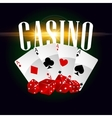 Casino cards and dices poster vector image vector image