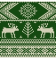 Knitted swatch with deers and snowflakes pattern vector image