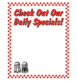 Check out our daily specials vector image vector image
