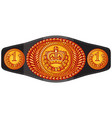 champion boxing belt vector image