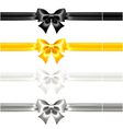 Festive bows black and gold with ribbons vector image