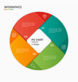 Circle chart infographic template 4 vector image