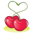 love cherries vector image vector image