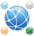 network icon in blue on isolated white background vector image vector image