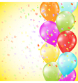Background with bright colorful balloons vector