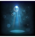 Premiere Blue Show background sparkles Smoky vector image
