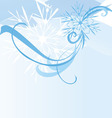 abstract blue snowflake background vector image