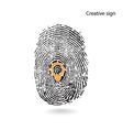 Creative light bulb idea concept with fingerprint vector image