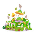 happy easter funny animals stay together in the vector image