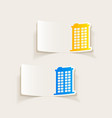 realistic design element building vector image