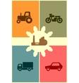 Repair fix tool icons auto vehicle customer vector image