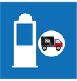 tank truck oil gasoline pump vector image