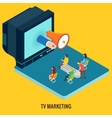 TV marketing concept vector image