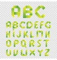 Origami style alphabet letters type set vector image