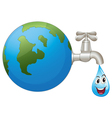 earth and a water drop vector image