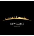 Newcastle England city skyline silhouette vector image