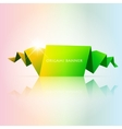 Abstract green origami speech bubble vector image vector image