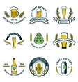 brewery labels and design elements Beer mugs vector image