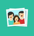 happy family photo flat vector image