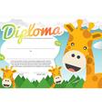 Kids Diploma Certificate Template vector image