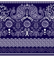 lace bohemian seamless border with floral vector image