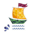 sailing yacht isolated icon vector image