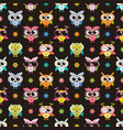 seamless pattern with cute colorfull owls vector image
