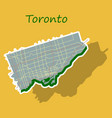 sticker color map of toronto canada city plan of vector image