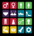 Toilet sign icon basic style vector image