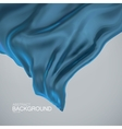Blue silk fabric vector image
