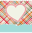 Vintage frame with hearts  EPS8 vector image vector image