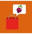 red bag buying beet vegetable vector image