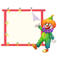 A clown beside an empty signage vector image vector image