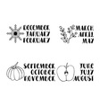 Names of months vector image
