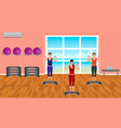 fitness people in sports wear in gym vector image