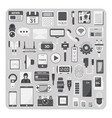 flat icons smartphone set vector image