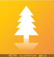 Christmas tree icon symbol Flat modern web design vector image