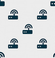 Wi fi router icon sign Seamless pattern with vector image