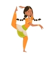 Indian dancer bollywood traditional party culture vector image