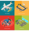 Airport 2x2 Images Concept vector image