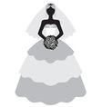 cute bride vector image vector image