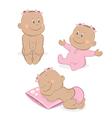 African baby girl set vector image