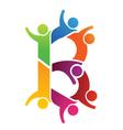 B letter people Logo vector image