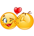 emoticons kissing vector image