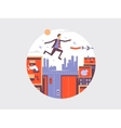 Man fly design flat vector image